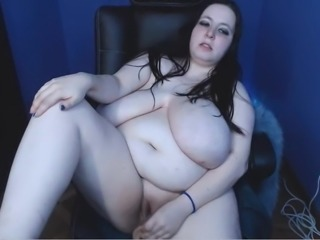 Blonde bbw with a huge white tits