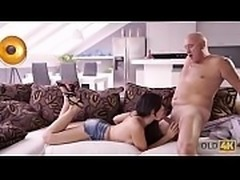 OLD4K. Sexy hottie anally stretched in great old and young clip
