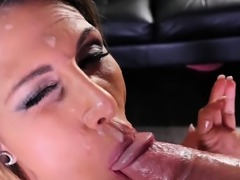 Big tit blonde Makayla Cox throat fucked by a big cock