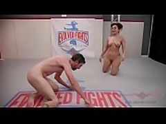 Gabriella Paltrova and Jay West fight dirty in a hot mixed gender, winner...