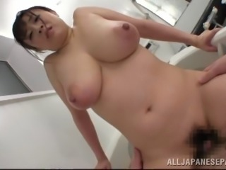 Luscious Japanese wife delivers a blazing tit job in the bath tub