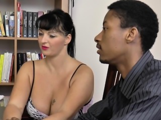 LACEYSTARR - Mature doctor fucked by interracial couple