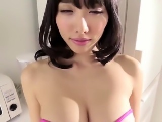 Stunning Japanese babe in sexy lingerie flaunts her curves