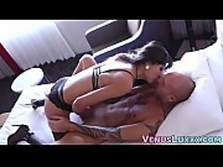 Asian TS Venus Lux forms 69 before fucking ass