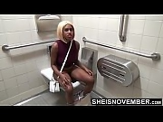 Wiping My Vagina While My Legs Are Spread Open , Sitting My Thick Brown Ass On A Toilet Peeing , My Cute Thighs Jiggle Because Of The Cold Seat , Curvy Hips Bending While I Roll Up the Tissue To Wipe My Pussy Msnovember