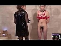 Dominant ladyboy drills lovers ass