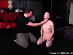 Bald slavegirl Erynn roses spanking