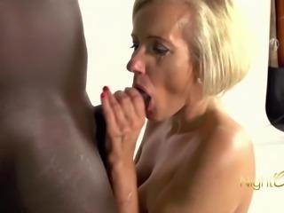 Blonde MILF vs BBC