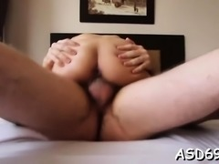 Agreeable sweetie enjoys blow job action