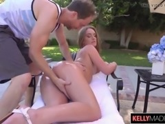 Big booty daisy stone creampied by the pool