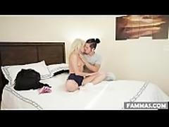 Stressful Khloe Kapri gets shoulder massage by her Stepbro