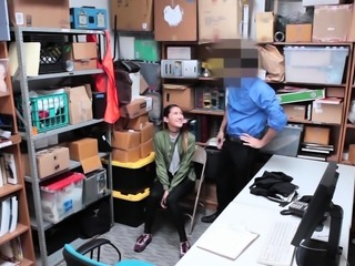 Tiny titted asian teen thief punish fucked by officer