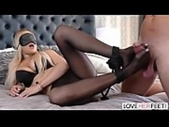 LoveHerFeet - A Pleasant Foot Fucking Surprise With Beautiful Blonde