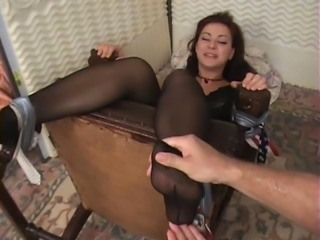 Latina, feet, pantyhose, nylons