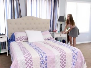 Danni Rivers snooping in the bedroom and gets caught