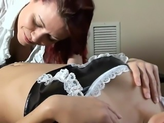 Maids Navel Licked belly worship