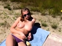Girl sunbathing naked