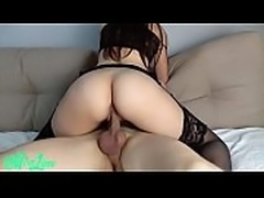 Stranger cums inside my pussy and make me pregnant. Amateur creampie Mira Lime