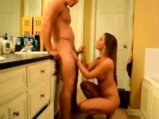 Masseur Cant Help Himself Give Big Tit Brunette Pussy Lick