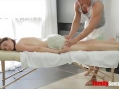 Kick starting my stepbrothers happy ending massage parlor