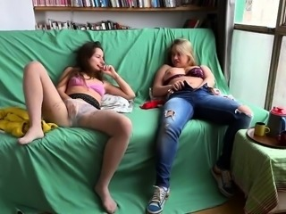 Horny young lesbians express their passion for masturbation