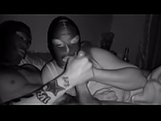 Masked Wife Gives Big Dick Blowjob Til Cum In Mouth