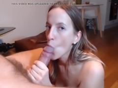 Horny gf loves to suck big hard cock