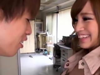 Fresh babe Erika Shibasaki chokes on fat pole