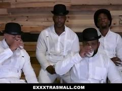 ExxxtraSmall - 4 Black Dudes Fucking Petite Chick