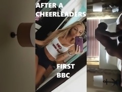 Hot blonde college cheerleader cheats with bbc cuckold