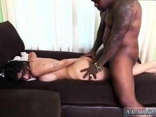 Brunette guy first time Mia Khalifa Tries A Big Black Dick