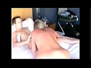 Horny amateur Swinger milf fucks young boy toy