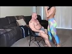 Lap dance ends in creampie