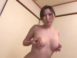 hot asian milf mirei yokoyama gives a great footjob