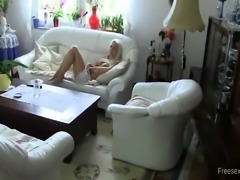 Amateur big tits blonde gets fucking in home video