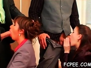 Smashing sweethearts hard screwed in foursome dressed xxx