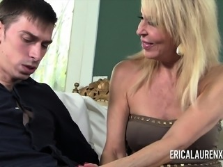 Naughty MILF Erica Lauren fucks a hung younger man