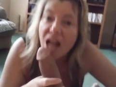 Busty Mature Blonde Works A cock
