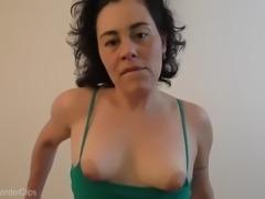 Feeling that monster cock grow bigger, bigger &amp bigger inside of her