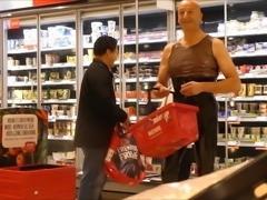 Plastikschlampe patent leather in the supermarket - slinkyz