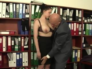 Huge Saggy Tits Italian Secretary Fucks The Boss