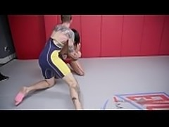 Mixed Nude Wrestling Winner Mia gets her Strapon for the loser