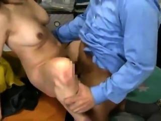 Hot Oriental milf spreads her legs to enjoy the deep fucking