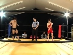 Busty Asian wrestler unleashes her kinky sexual fantasies