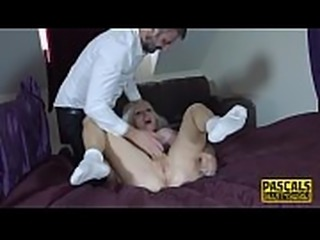 Squirting busty real sub