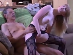 Grandpa made me cum right there in the kitchen