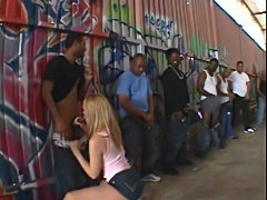 Nasty annette schwarz interracial gang bang  free