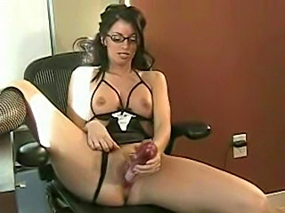 Busty Tiffany Preston office masturbation free