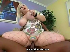 Fat Blonde Bunny De La Cruz Fucked by Black cock. free