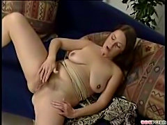 mature hairy woman playing